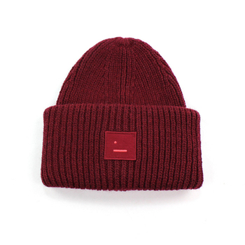 2020 New Acne unisex women's autumn and winter hats Angora100% double layer warm hat Skulies wool hat Warm knitted hat 19