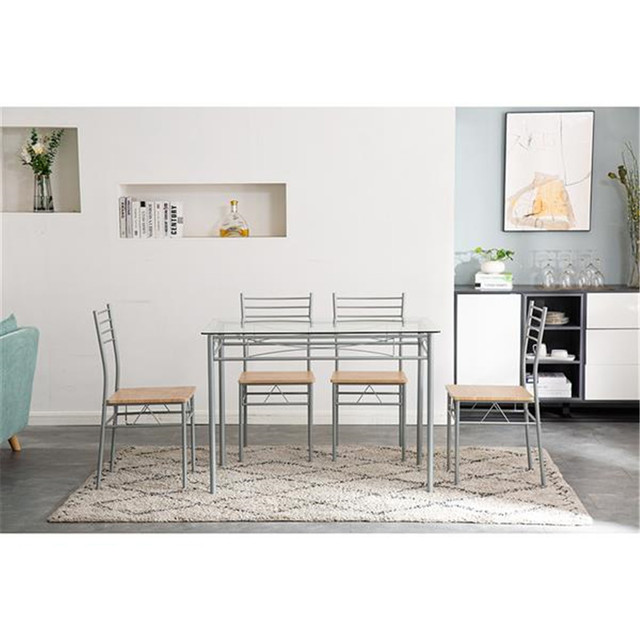 Glass Dining Table and Chairs  3