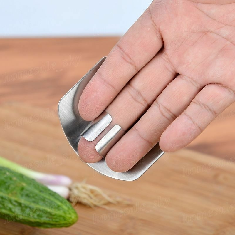 Kitchen Finger Protector Safe Stainless Steel Guard Slice Hand Cut Tool UK