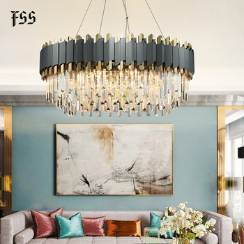 Dark Grey Crystal and Chrome Chandelier Best Children's Lighting & Home Decor Online Store