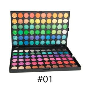 120 Colors Matte palette of shadows make up the shadows Shimmer Eyeshadow palette eye shadow bright palette Make-up palette