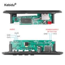Kebidu DC 6V 9V 12V mikro USB WMA USB FM AUX TF radyo MP3 dekoder ses kartı yok bluetooth uzaktan ile müzik hoparlörü araba için
