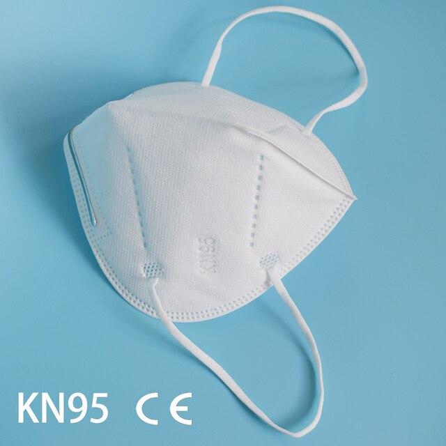 FFP2 mask Face mask KN95 Mouth Mask Safety Antibacterial Maske soft 95% Filtration protect mask dust  mascarillas tapabocas 1