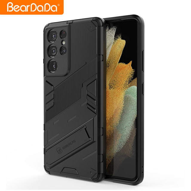 Armor For Samsung s21 ultra case cover Shockproof Holder Phone Case PC Silicone For Samsung galaxy s21 Plus fe Case Coque Fundas