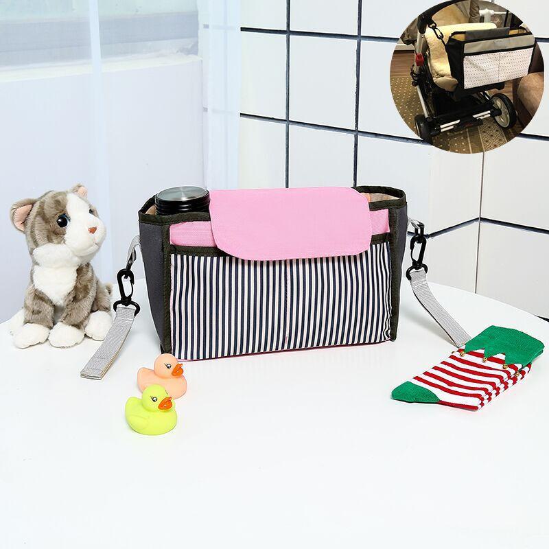 Baby Stroller Organizer Mummy Mama Package Newborn Diaper Bag Waterproof Nylon Basket Hook Accessories Backpack Nappy Bags