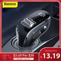 Baseus Auto AUX Bluetooth Adapter Car Kit Auto Mp3 Player Bluetooth Empfänger Mit Dual USB Auto Ladegerät FM Transmitter