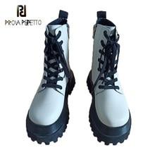Feminino 2020 outono/inverno novo estilo britânico curto martin botas med-heel plataforma dedo do pé redondo rendas até botas de tornozelo da motocicleta