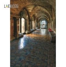 Laeacco Ancient Brick Promenade Interior Photography Background Seamless Customized Photographic Backdrops For Photo Studio