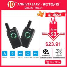 RETEVIS RT618/RT18 PMR Radio Rechargeable Mini Walkie Talkie 2 pcs PMR446 PMR 446 FRS Dual PTT VOX Two-way Radio Walkie-Talkie(China)
