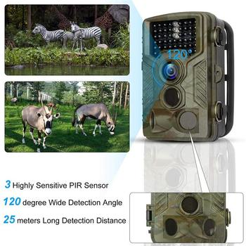HC-800A Hunting Camera 42 IR LEDs Infrared Night Vision Hunting Scouting Camera For Wildlife Farm Security Trigger Speed 0.5s hc 800a 12mp 1080p infrared digital trail camera 120 degree wide angle night vision hunting camera wildlife scouting device