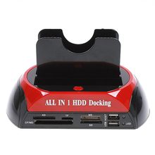 Card-Reader Docking-Station Usb-2.0 HDD IDE/SATA Dual