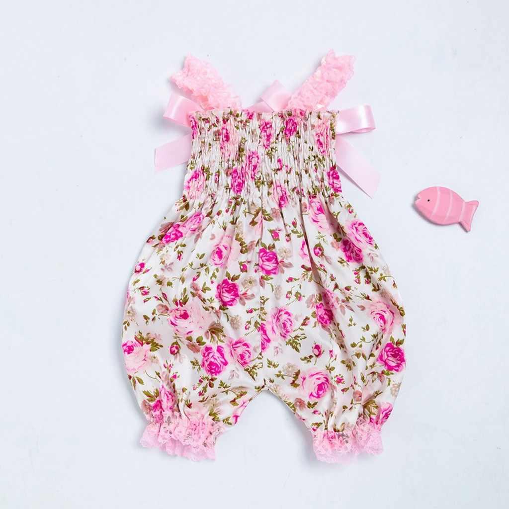 Peuter Baby Jongens Meisjes Bloemen Romper Bodysuit Jumpsuit + Hoofdband Set Outfit baby meisje kleding baby boy grappige babe bodysuit
