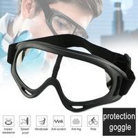 Um par de óculos de proteção ao ar livre óculos de segurança anti choque pc lente óculos de proteção à prova de vento anti uv equitação óculos de trabalho Óculos de ciclismo     -