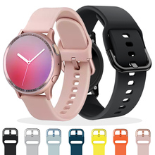 20 22mm Watch Strap For Samsung Galaxy watch 46 42mm Galaxy Active 2 40mm 44mm Gear S3 frontier/S2 Classic Silicone Wrist Band