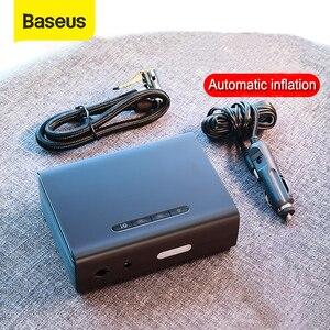 Image 1 - Baseus 12V sprężarka powietrza samochodowa inteligentny opona samochodowa pompa nadmuchiwana Mini przenośne elektryczne opona samochodowa Inflator kompresor