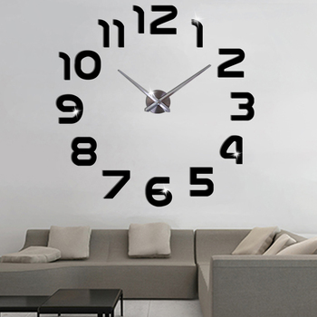 Large Wall Clock Sticker Acrylic Silent Digital Big 3D DIY Wall Clock Modern Design for Living Room Home Decor