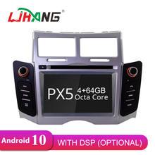 Ljhang ips автомобильный dvd плеер android 10 для toyota yaris