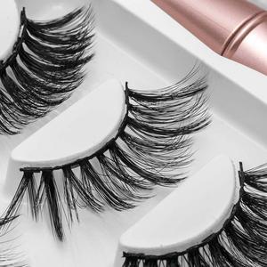 Image 5 - Pestañas postizas magnéticas 3D, 3 pares, delineador de ojos, pestañas postizas de visón, juego de pinzas líquidas impermeables, maquillaje de pestañas de larga duración