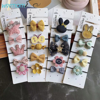 Warmom 5PCS Baby Girls Bowknot Headband Kids Star Elastic Hair Bands Cute Princesses Headwear New Arrival Accessories Gift - discount item  30% OFF Kids Accessories
