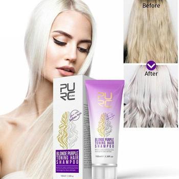 PURC 100ml Purple Shampoo For Blonde Hair Brassaway Revitalizing Shampoo Sulfate Free Color Treated Shampoo No Yellow Shampoo фото