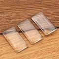 10 шт./лот 19x38 мм прямоугольная плоская задняя прозрачная стеклянная кабошон, высокое качество, промотирование денег! (Z4-07)