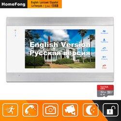 Homefong vídeo puerta teléfono con cable 7 pulgadas HD Monitor con detección de movimiento grabación soporte CCTV cámara para el intercomunicador de vídeo doméstico sistema de
