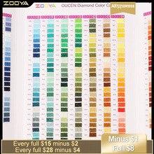لوحة ملونة مرسومة بالألماس ذاتية الصنع من ZOOYA مربعة/مستديرة مطرزة بالألماس مخطط DMC منتهي