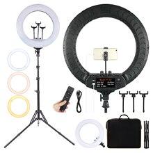Fosoto ft 54 21インチledリングライト写真ランプカメラ電話リングライトガーデンライトメイクビデオリングランプ三脚youtubeの