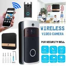 Умный WiFi видео дверной звонок камера визуальный домофон с колокольчиком ночного видения IP дверной звонок беспроводной домашней безопасности+ 8 Гб карта памяти
