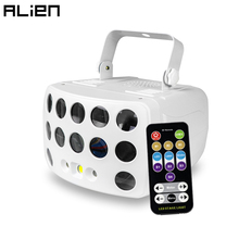 ALIEN Remote Control DMX RGBW LED Laser stroboscopico Disco DJ Beam Spot Stage Lighting Effect Party Dance Club Wedding Butterfly Light