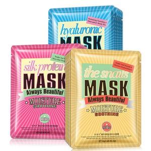 Image 1 - Изображения гиалуроновой кислоты, улитка, Шелковый белок, тканевая маска для лица, увлажняющие маски для лица, контроль жирности, против акне, антивозрастной уход за кожей