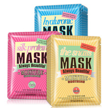 BEELDEN hyaluronzuur Slak zijdeproteïne stof gezichtsmasker hydraterende gezichtsmaskers olie controle acne anti aging skin zorg