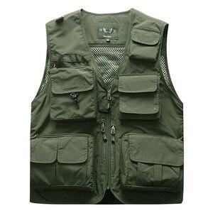 Image 1 - Outdoor Mens Tactical Fishing Vest jacket man Safari Jacket Multi Pockets Sleeveless travel Jackets 5XL 6XL 7XL, 7898m
