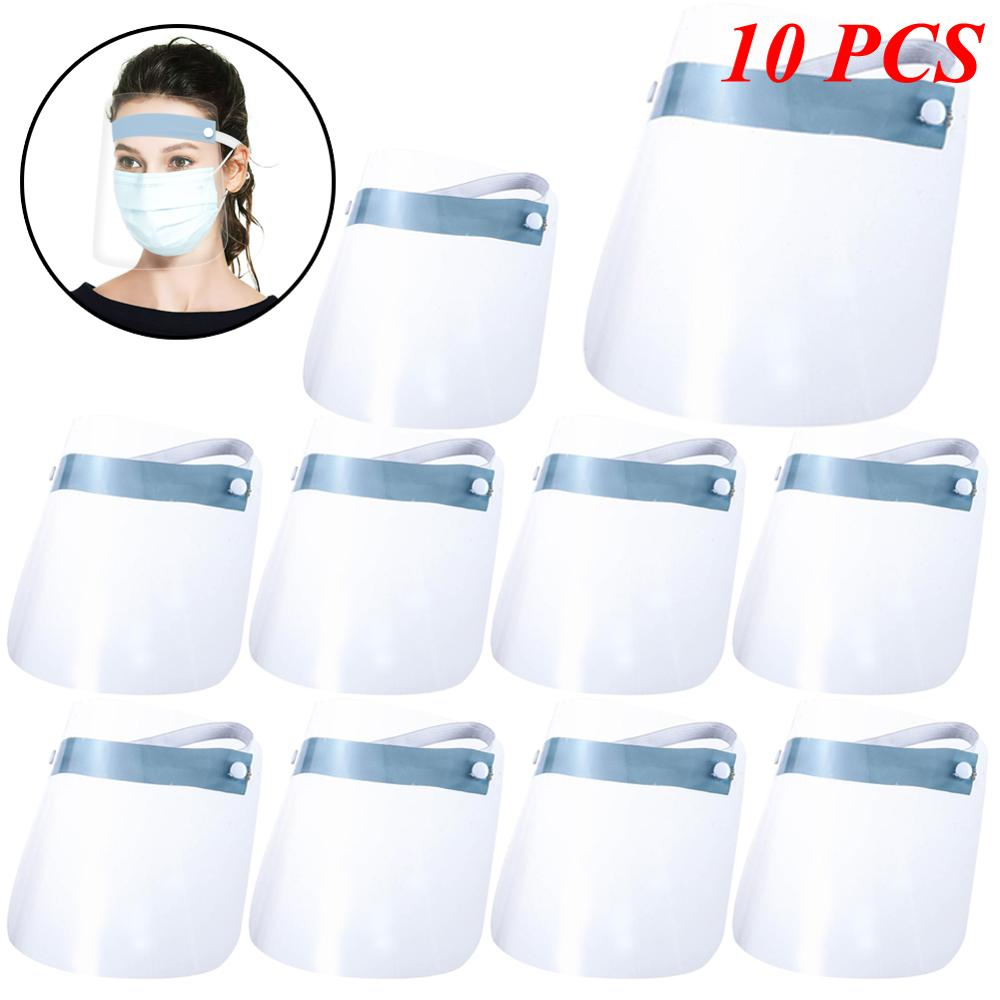 10 PCS Full Face Shield Mask Clear Flip Up Visor Protection Safety Work Guard For Droplet Dust Oil Fume In Stock Dropshipping