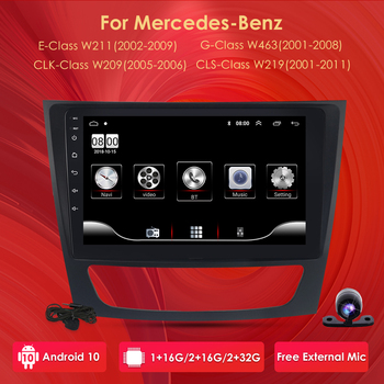 2din Android 10Car MultiMedia Player GPS Stereo DAB+Radio for Mercedes Benz W211 W219 W209 W463 E200 CLS350 CLS500 E220 E320 4G image