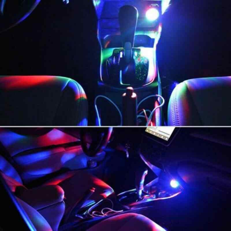 Araba aksesuarları otomotiv İç süsler araç Mini USB RGB LED disko sahne aydınlatma topu DJ kristal sihirli ışık parti