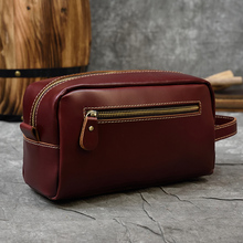 Luufan Leather Men Wallets Business Male Wallet Double Zipper Vintage Large Purse Wine Red Black And Brown Luxury Hand Bag