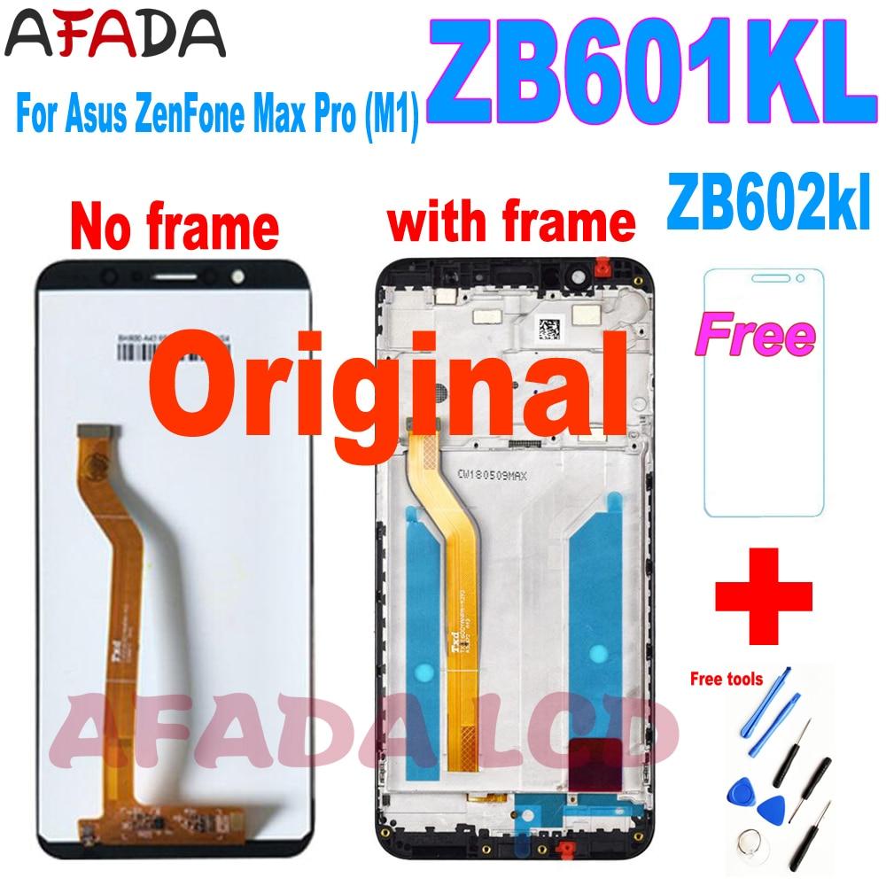 ЖК-дисплей 5,99 дюйма для Asus ZenFone Max Pro (M1) ZB601KL, ZB602KL, сенсорная панель, стекло, экран с дигитайзером в сборе + рамка