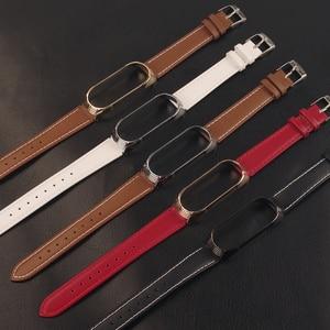 Для Mi Band 4 ремешок из натуральной кожи для Xiaomi Mi Band 3 браслет Miband 4 3 браслеты новый стиль ремешок Mijobs дизайн