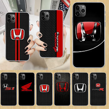 HONDA JDM car Phone Case cover For iphone 5 5S 6 6S PLUS 7 8 12 mini X XR XS 11 PRO SE 2020 MAX transparent cell cover pretty image