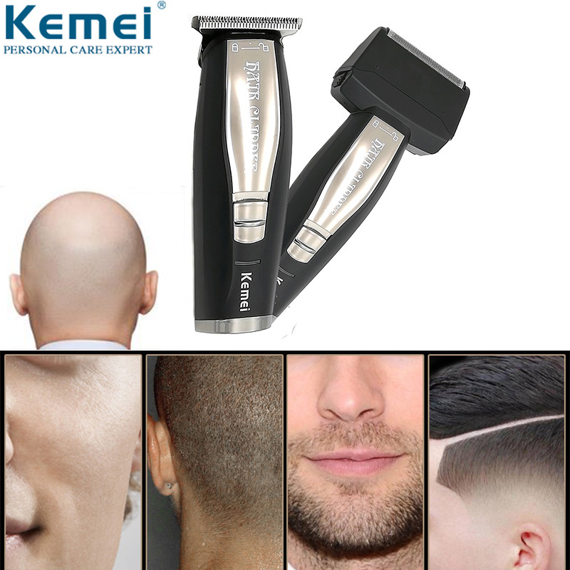 Kemei 2 In 1 Hair Beard Trimmer Electric Shaver For Men 0mm Baldheaded Hair Clipper Reciprocating Razor Finish Shaving Machine