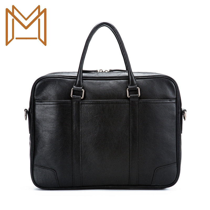2019 Cross Section Single Shoulder Messenger Computer Package Male Business Affairs Leisure Time Genuine Leather Document
