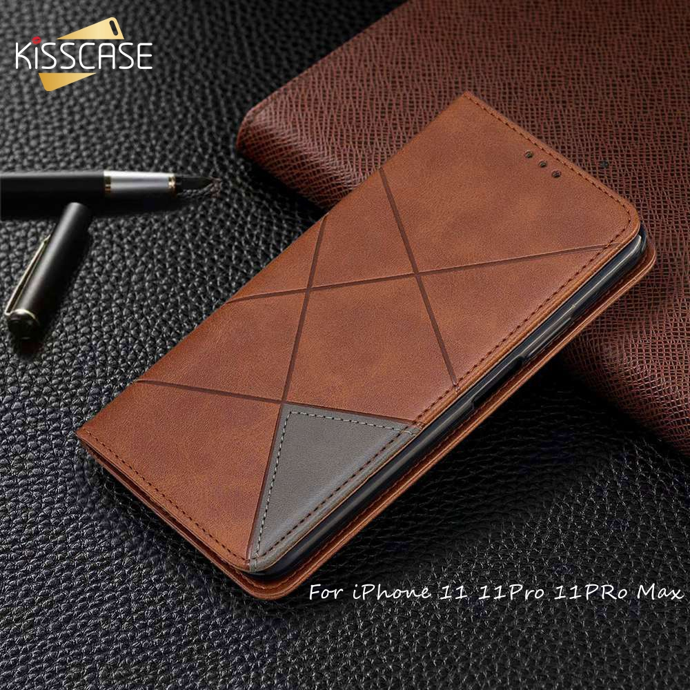 Funda KISSCASE magnética para iPhone 11 funda 11Pro Max 6 6s 7 8 X XS XR Funda de cuero para iPhone 11 Pro 7Plus 8Plus