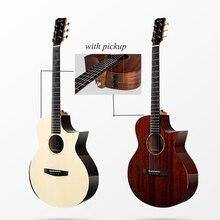 Eny Kiều Đàn Guitar 40 Inch Solid Mahogany Đàn Guitar Với Bán Rắn Engelman Vân Sam Guitar Dây Nhạc Cụ