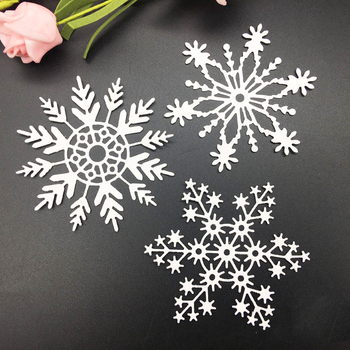 3Pcs Big Snowflake Set Metal Cutting Dies Stencil Scrapbooking Embossing 2019 New Christmas Craft Stamps