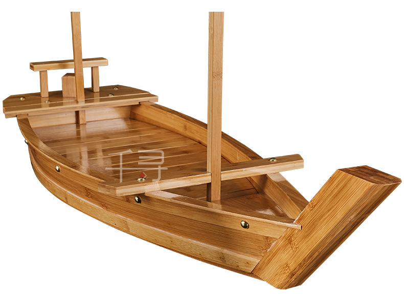 japonesa de madeira sushi barco bambu sushi ferramenta sushi