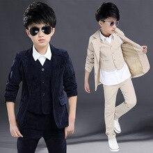 New Winter Arrival Flower Boy Suit Good Quality Cotton Corduroy Fabric Wedding Party Suit Attire Performance Suit