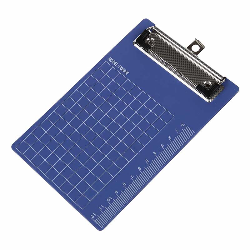 NEW- Pad Clip Holder Folder Plastic Clipboard Blue Purple for Paper A6