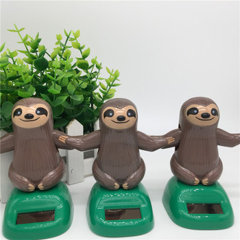 Novelty Solar Toys Plastic ABS Sloth Solar Powered Dancing For Desk Home Ornaments Decoration Toys For Children Kids Gift 1