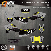 Queen-X пользовательские командные графические фоны наклейки 3M наклейки Набор для KTM SXF 2007-2010 EXC 2008-2011 046